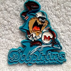 Vintage Looney tunes taz Dolphins magnet